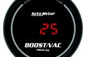 "Auto Meter® - Sport-Comp™ 2-1/16"" Digital Boost / Vacuum Gauge, 30"" Hg / 30 psi"