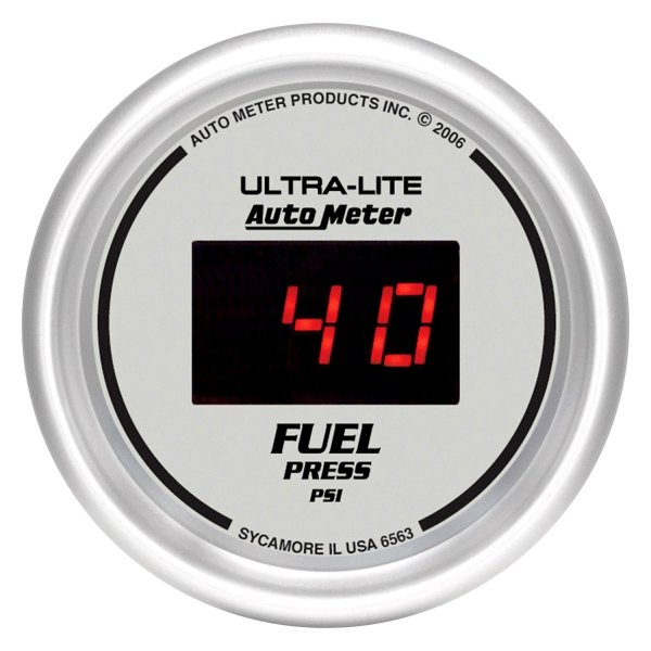 "Auto Meter® - Ultra-Lite™ 2-1/16"" Digital Fuel Pressure Gauge, 0 - 100 psi"
