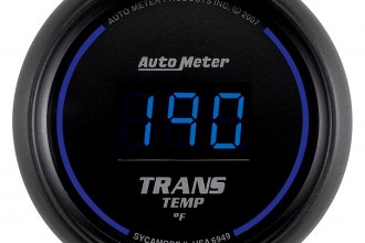 "Auto Meter® 6949 - Cobalt™ 2-1/16"" Digital Transmission Temperature Gauge (0 - 340 F)"