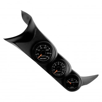Auto Meter® - GM Factory Match™ Direct Fit Boost/Pyrometer/Transmission Temperature A-Pillar Gauge Kit