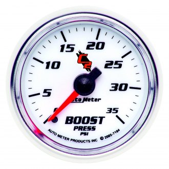 Auto Meter® - C2™ 2-1/16 Mechanical Boost Gauge , 0 - 35 psi