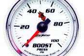 "Auto Meter® - C2™ 2-1/16"" Mechanical Boost Gauge, 0 - 100 psi"