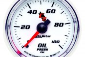 "Auto Meter® - C2™ 2-1/16"" Mechanical Oil Pressure Gauge, 0 - 100 psi"