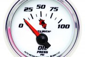"Auto Meter® - C2™ 2-1/16"" Short Sweep Electric Oil Pressure Gauge, 0 - 100 psi"
