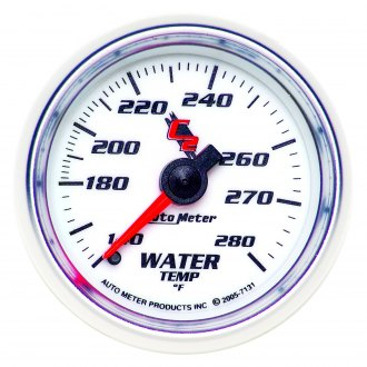 Auto Meter® - C2™ 2-1/16 Full Sweep Mechanical Water Temperature Gauge , 140 - 280 F