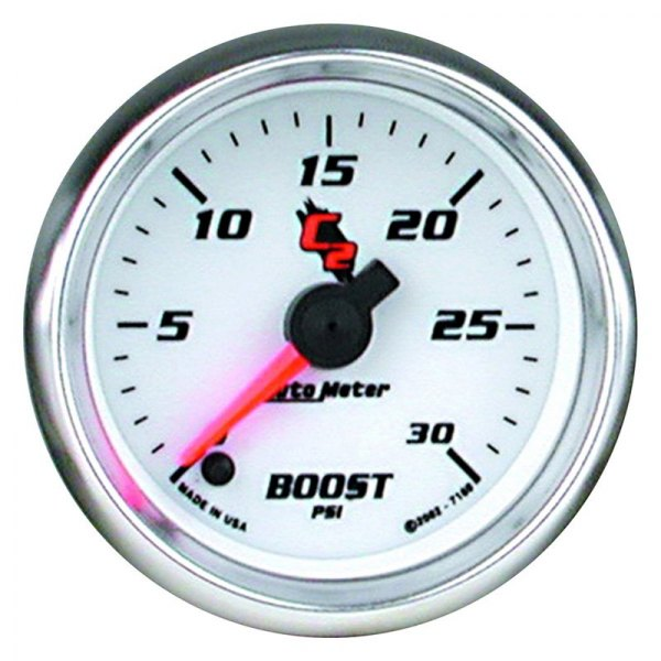 "Auto Meter® - C2™ 2-1/16"" Electric Boost Gauge, 0 - 30 psi"