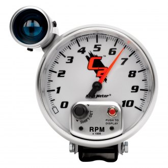 Auto Meter® - C2 Series Pedestal Tachometer Gauges with Shift Lights