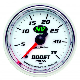 Auto Meter® - NV™ 2-1/16 Mechanical Boost Gauge , 0 - 35 psi