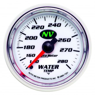 Auto Meter® - NV™ 2-1/16 Full Sweep Mechanical Water Temperature Gauge , 140 - 280 F