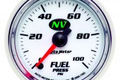 "Auto Meter® - NV™ 2-1/16"" Electric Fuel Pressure Gauge, 0 - 100 psi"