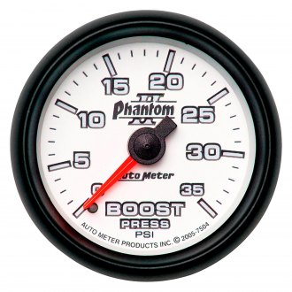 Auto Meter® - Phantom II™ 2-1/16 Mechanical Boost Gauge , 0 - 35 psi
