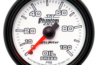 Auto Meter® - Phantom II™ Oil Pressure In-Dash Gauge