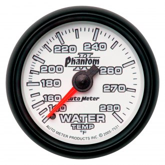 Auto Meter® - Phantom II™ 2-1/16 Full Sweep Mechanical Water Temperature Gauge , 140 - 280 F