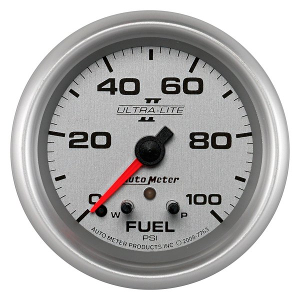 "Auto Meter® - Ultra-Lite II™ 2-5/8"" Electric Fuel Pressure Gauge, 0 - 100 psi"