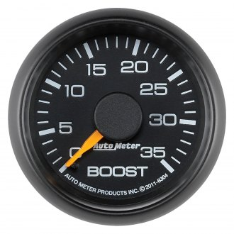 Auto Meter® - Factory Match 2-1/16 Mechanical Boost Gauge with Black Faceplate, 0 - 35 psi