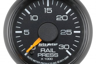 "Auto Meter® - Factory Match 2-1/16"" Diesel Electric Fuel Rail Pressure Gauge (0 - 30000 psi)"