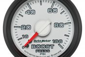 "Auto Meter® - Factory Match 2-1/16"" Mechanical Boost Gauge, 0 - 100 psi"