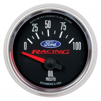 Auto Meter® - Ford Racing Series 2-1/16 Short Sweep Electric Oil Pressure Gauge , 0 - 100 psi