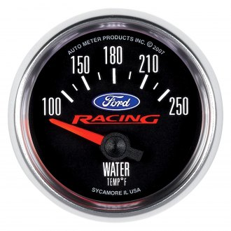 Auto Meter® - Ford Racing Series 2-1/16 Short Sweep Electric Water Temperature Gauge , 100 - 250 F