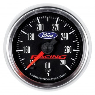 Auto Meter® - Ford Racing Series 2-1/16 Electric Oil Temperature Gauge, 140 - 280 F
