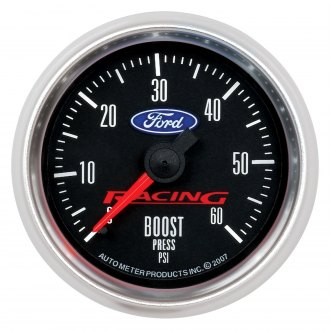 Auto Meter® - Ford Racing Series 2-1/16 Mechanical Boost Gauge, 0 - 60 psi