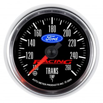 Auto Meter® - Ford Racing Series 2-1/16 Electric Transmission Temperature Gauge, 100 - 260 F