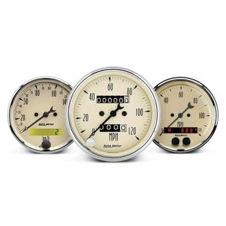 Auto Meter® - Antique Beige™ In-Dash Gauges