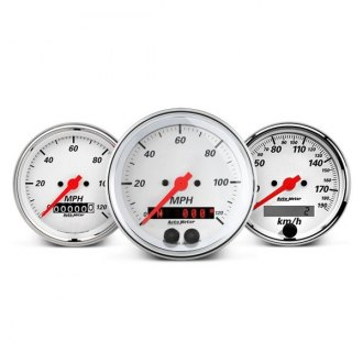 Auto Meter® - Arctic White™ In-Dash Gauges