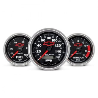Auto Meter® - GM Black™ In-Dash Gauges