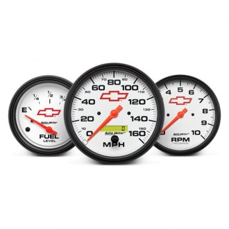 Auto Meter® - GM White™ In-Dash Gauges