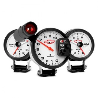 Auto Meter® - GM White™ Pedestal Gauges