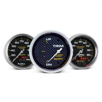 Auto Meter® - Marine Carbon Fiber™ In-Dash Gauges