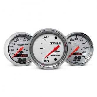 Auto Meter® - Marine Chrome™ In-Dash Gauges