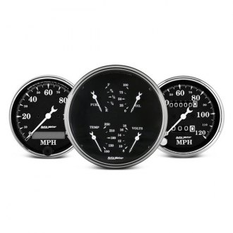 Auto Meter® - Old Tyme Black™ In-Dash Gauges
