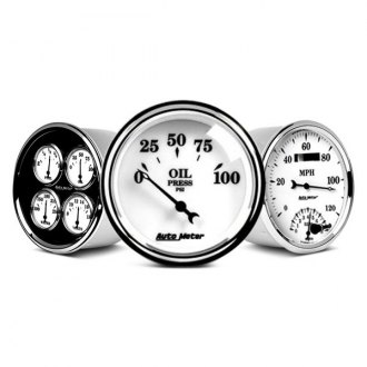 Auto Meter® - Old Tyme White II™ In-Dash Gauges