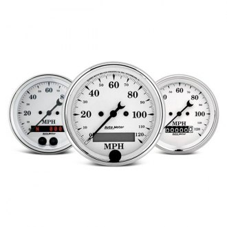 Auto Meter® - Old Tyme White™ In-Dash Gauges