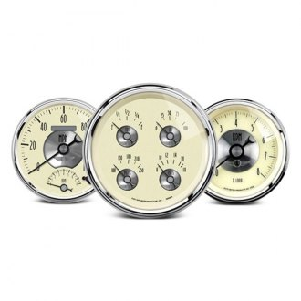 Auto Meter® - Prestige Antique Ivory™ In-Dash Gauges