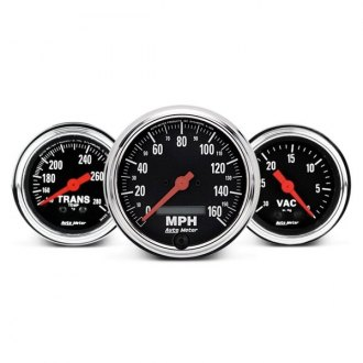 Auto Meter® - Traditional Chrome™ In-Dash Gauges