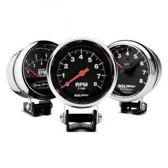 Auto Meter® - Traditional Chrome™ Pedestal Gauges