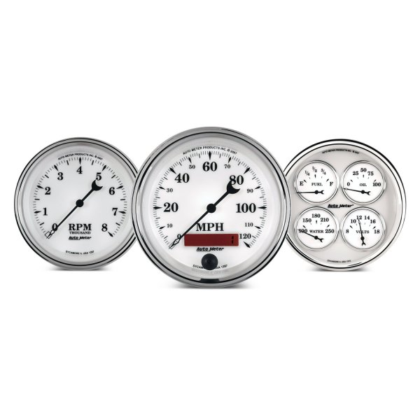 Auto Meter 1690 Old TYME White Electric Tachometer