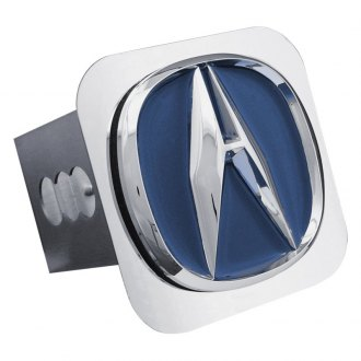 Autogold® - Chrome Hitch Cover with Acura Blue Fill Logo