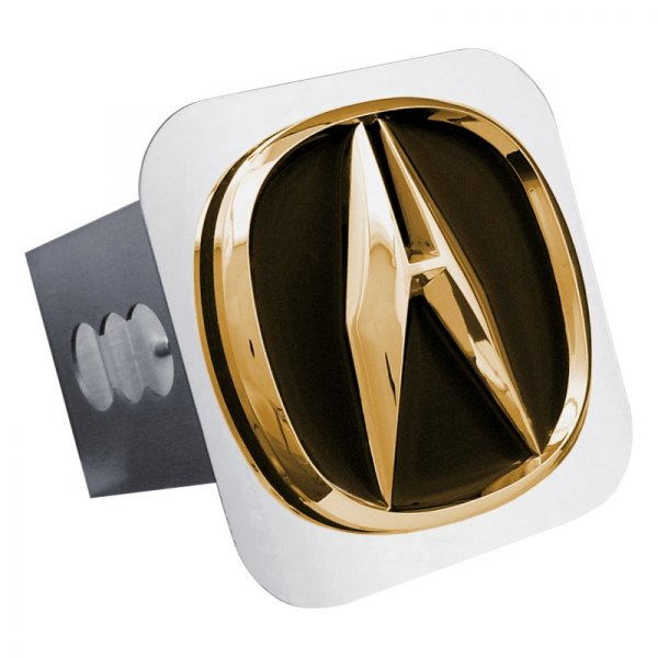 Autogold® - Gold Hitch Cover with Acura Logo
