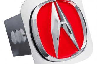 Autogold® - Chrome Hitch Cover with Acura Red Fill Logo