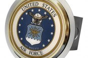Autogold® - Chrome Hitch Cover with US Air Force Logo