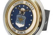 Autogold� - Chrome Hitch Cover with US Air Force Logo
