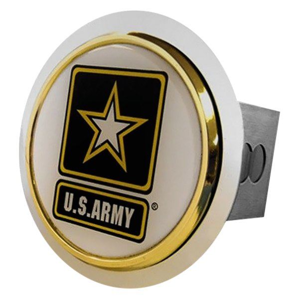 Autogold® - Chrome Hitch Cover with US Army Logo