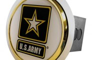 Autogold� - Chrome Hitch Cover with US Army Logo
