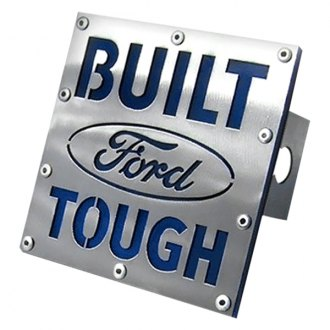 "Autogold® - Brushed Hitch Cover with Ford Built Tough Logo for 2"" Receivers"