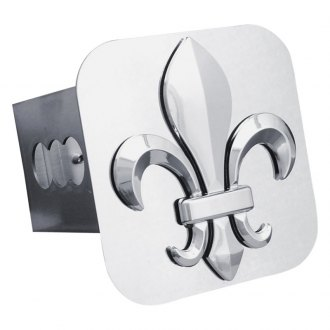Autogold® - Chrome Hitch Cover with Fleur-De-Lis Logo
