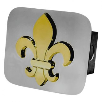 Autogold® - Gold Hitch Cover with Fleur-De-Lis Logo